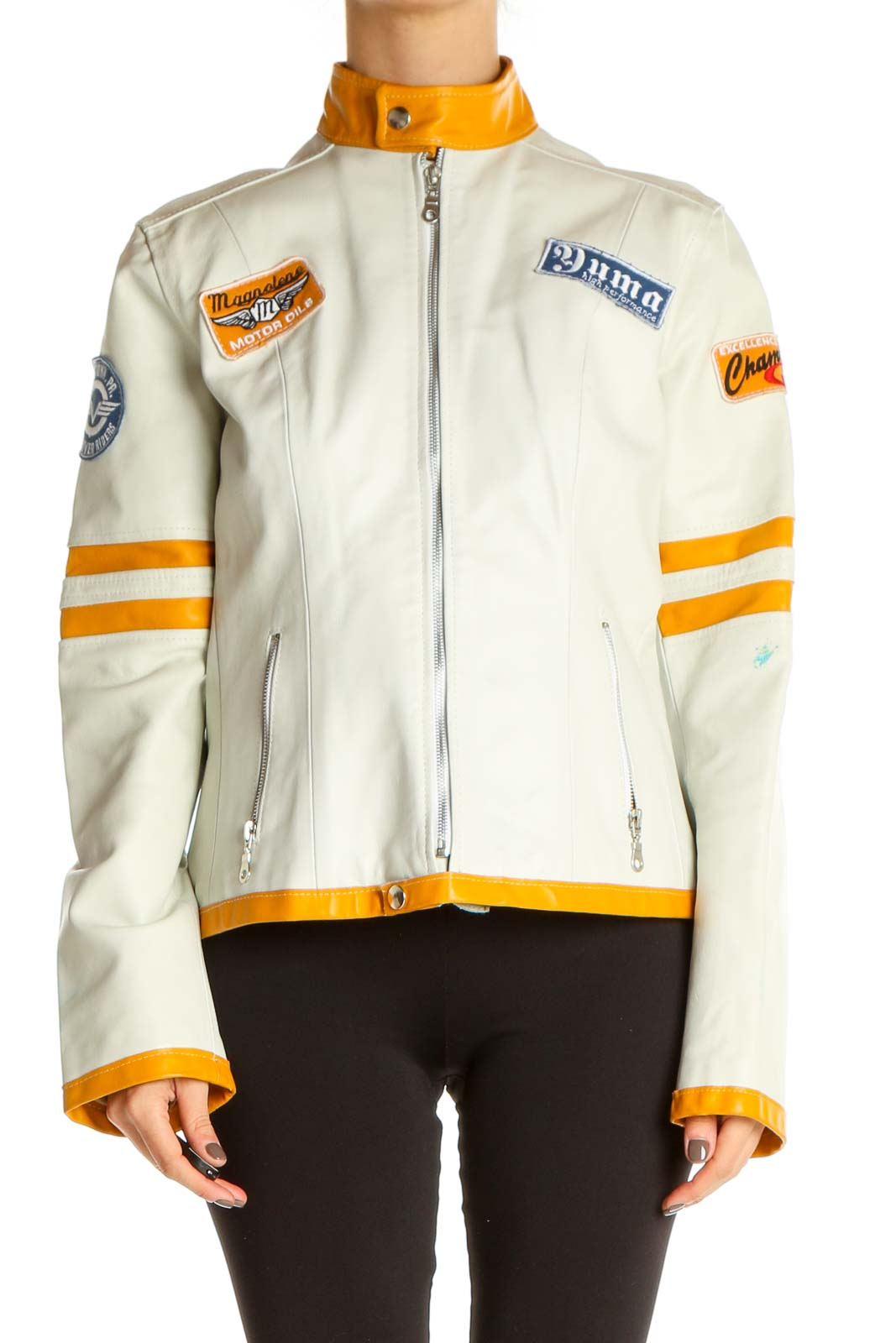Beige Jacket Front
