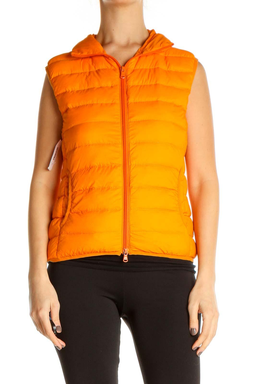 Orange Vest Jacket Front