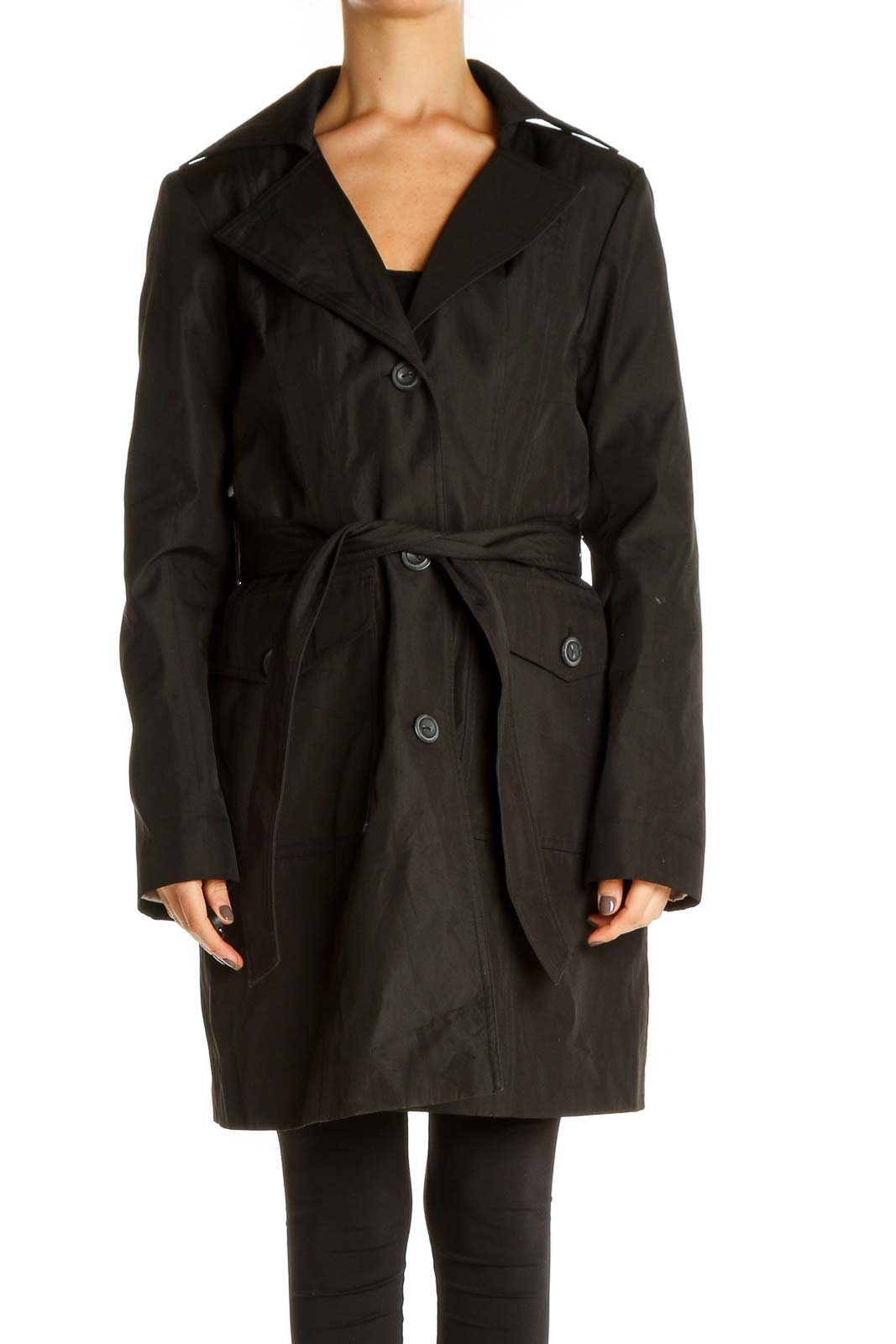 Black Trenchcoat Front