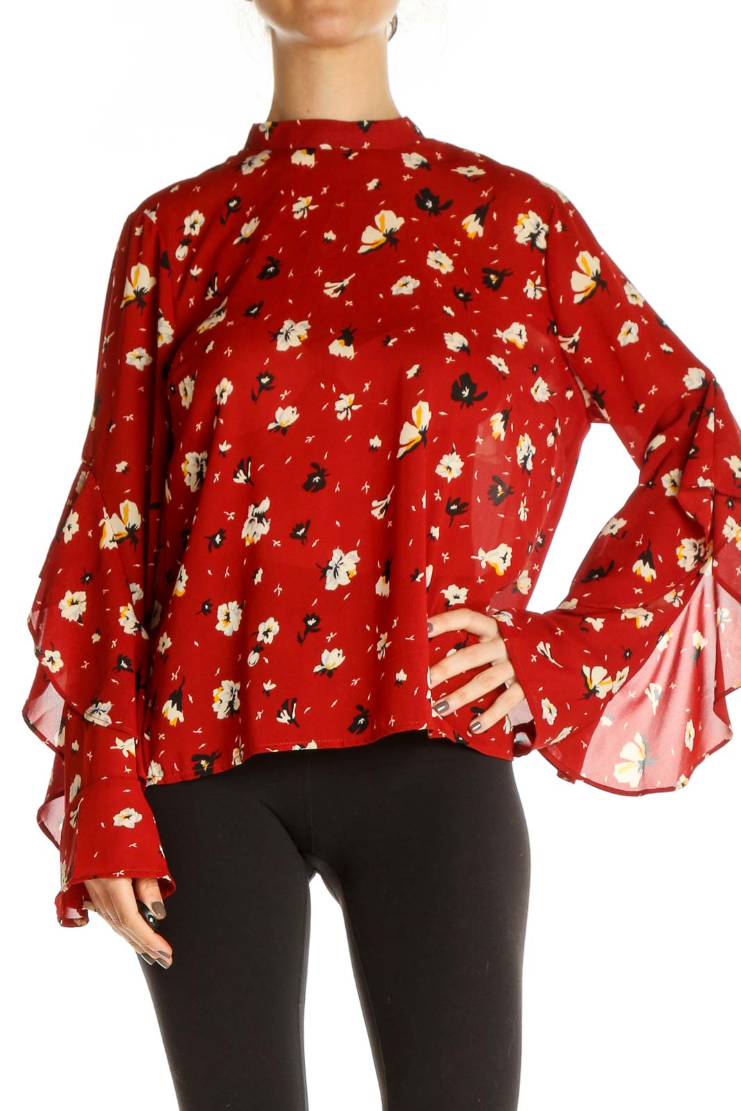 Red Brunch Blouse Front