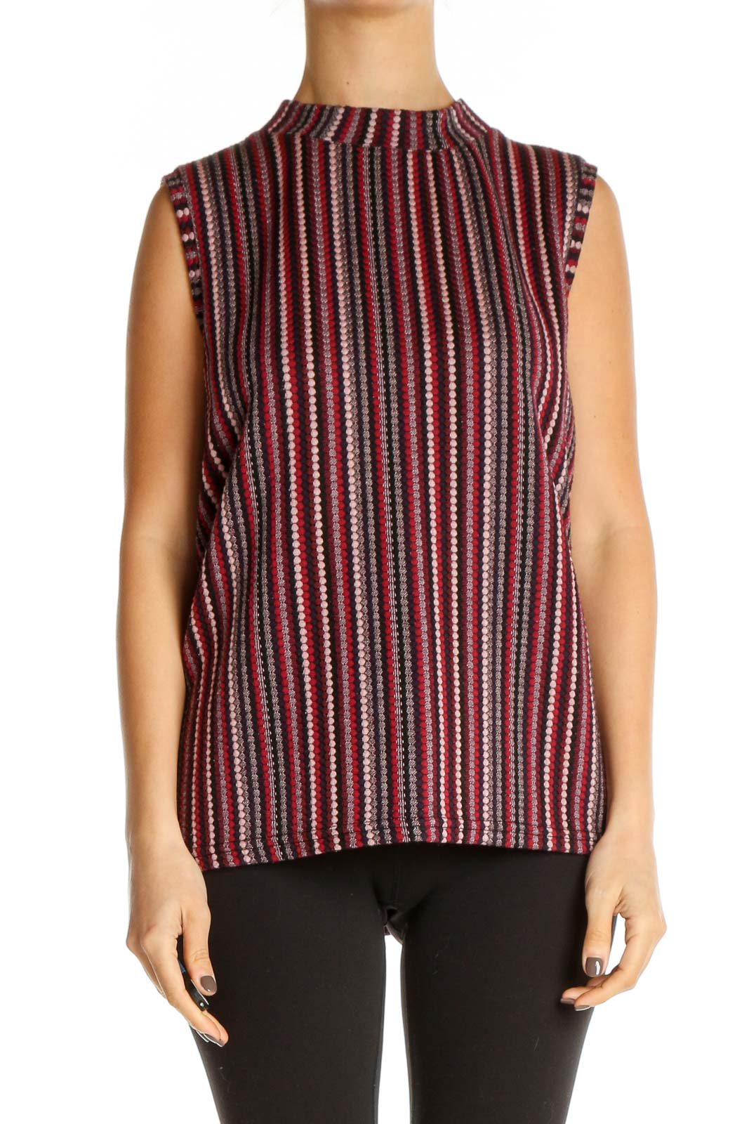 Red Striped Casual Shirt Front