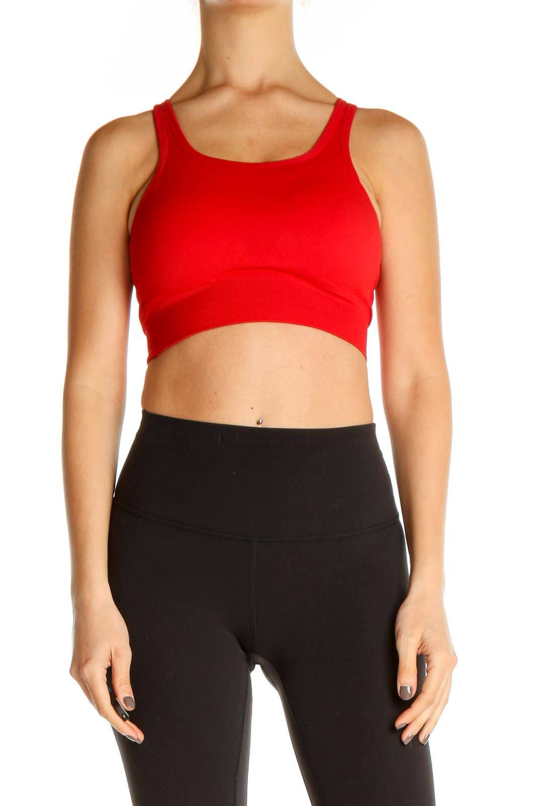 Red Activewear Top Front