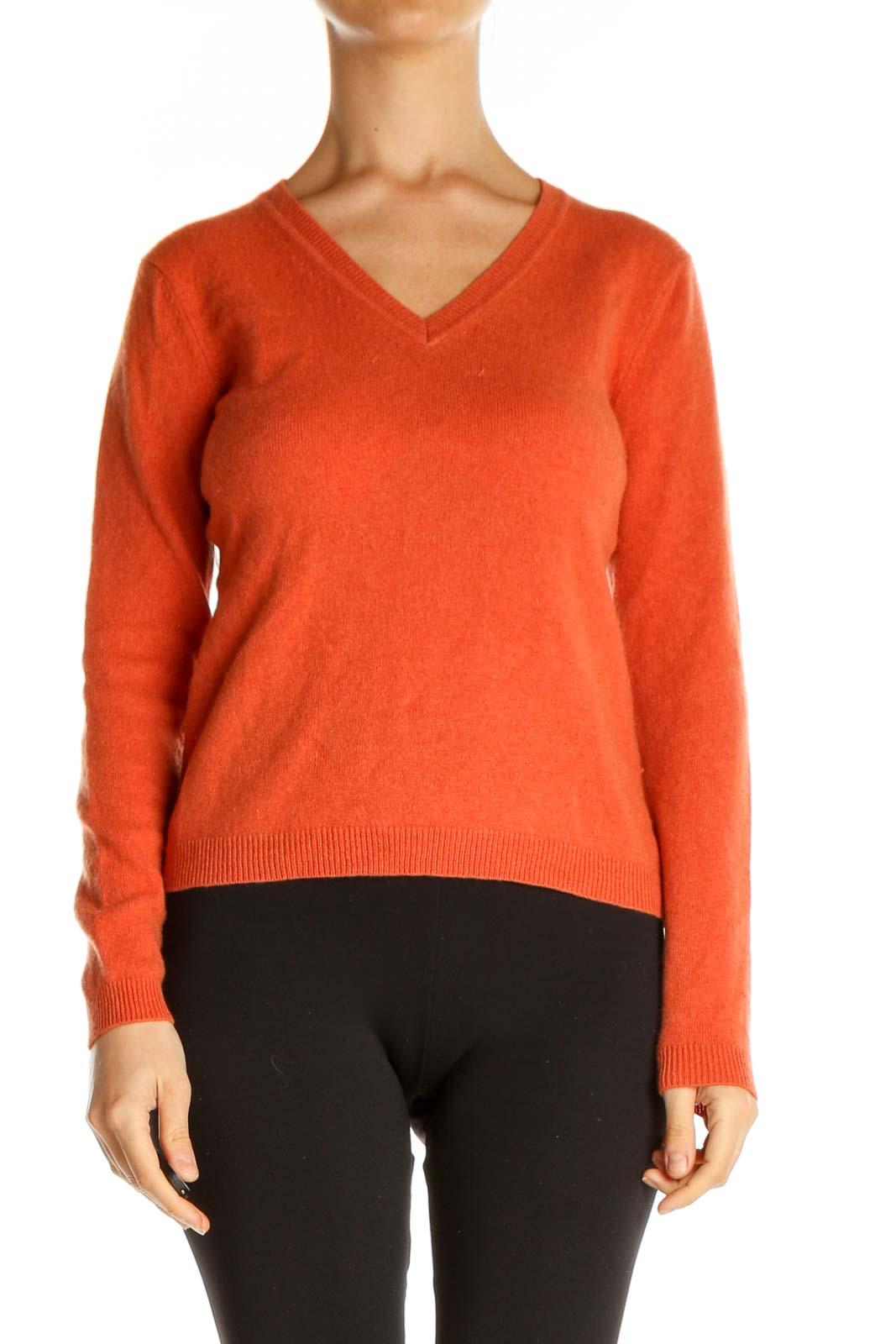 Orange All Day Wear Sweater Front