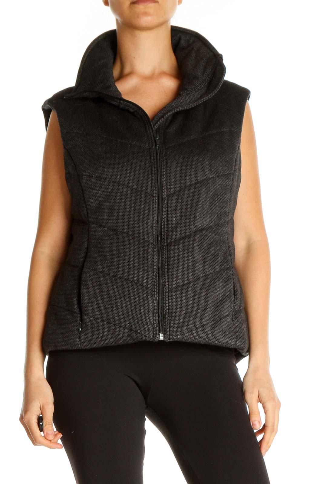 Gray Vest Jacket Front