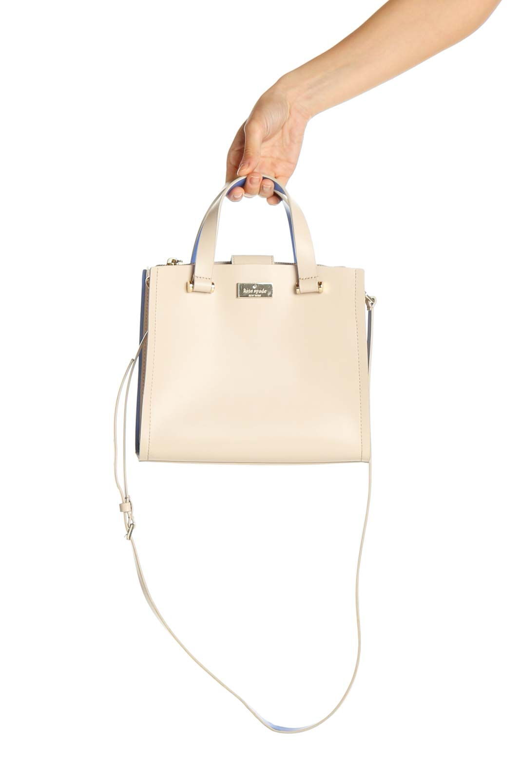 Beige Colorblock Bucketbag Front