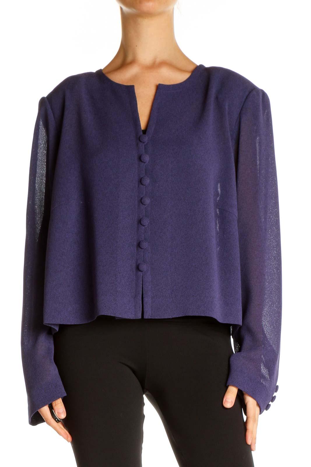 Purple Blazer Front