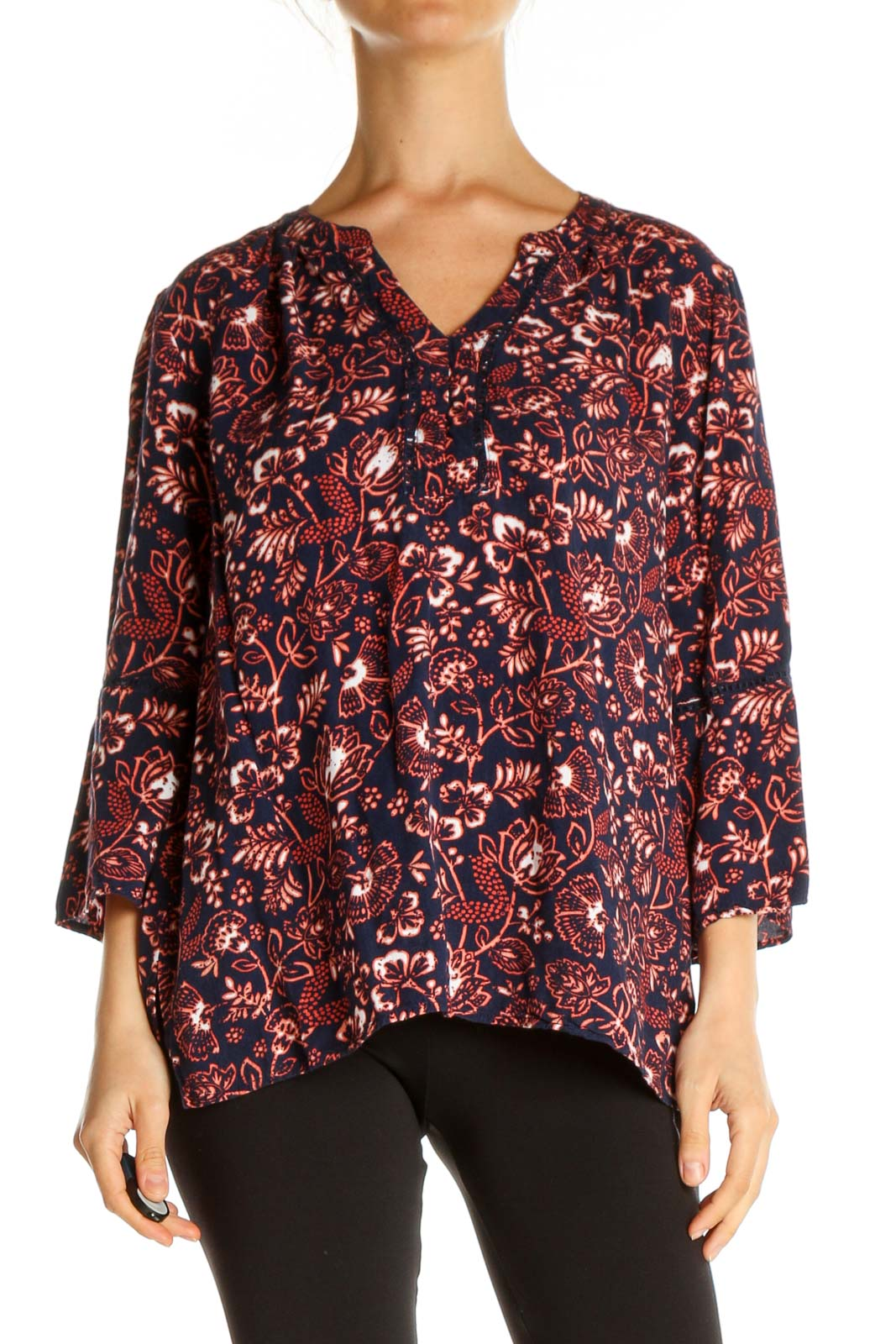 Red Bohemian Blouse Front