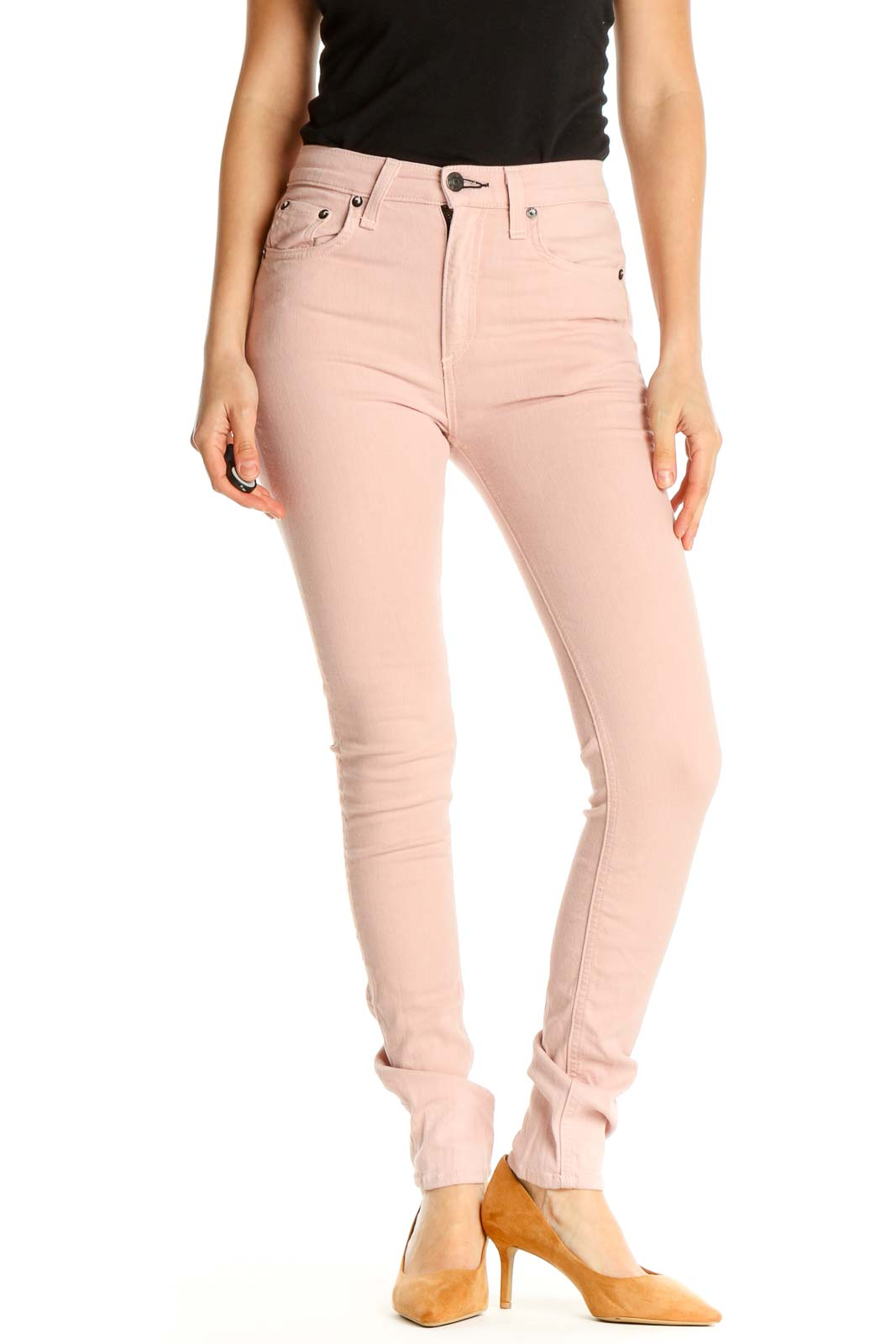 Pink Skinny Jeans Front