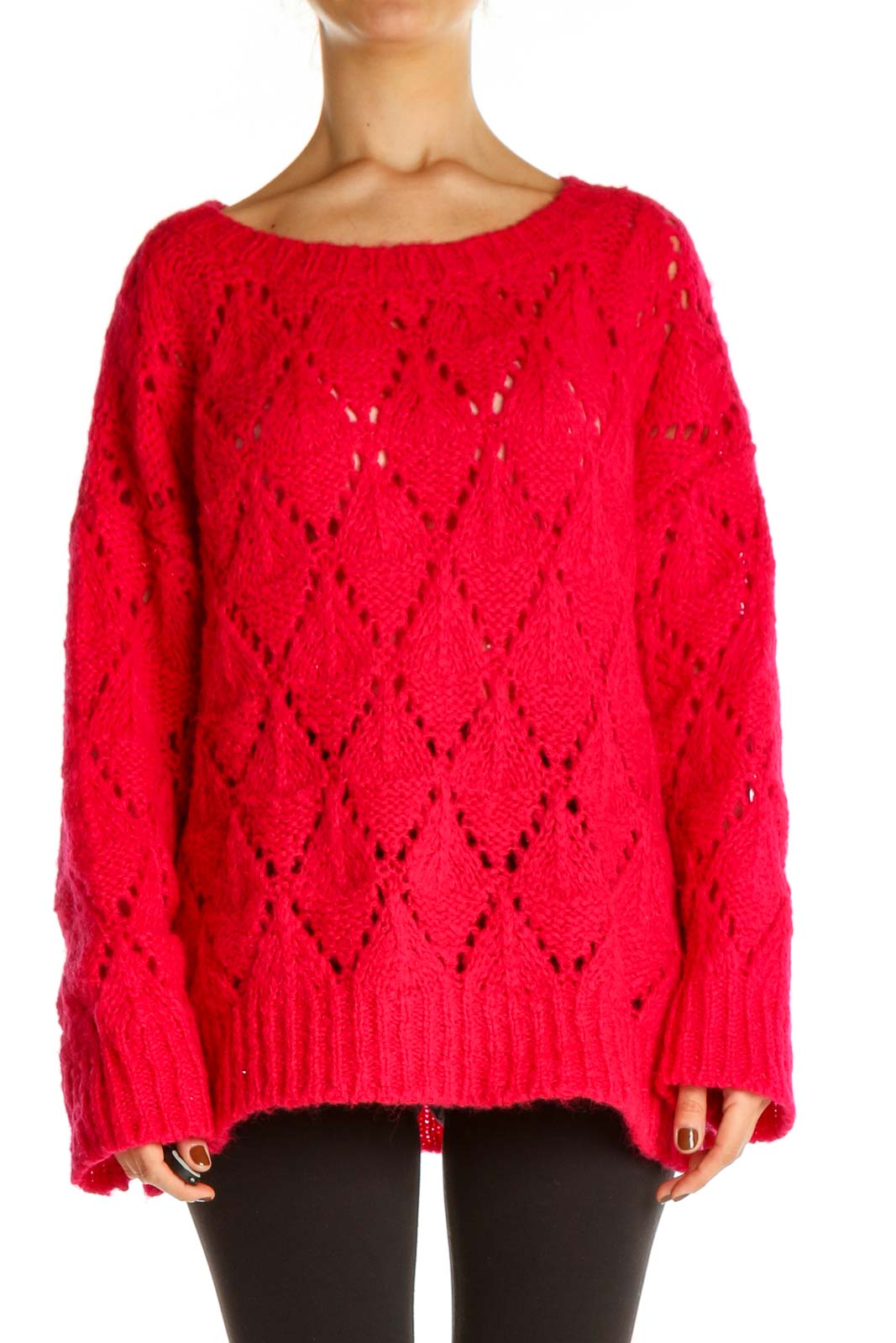 Red All Day Wear Sweater Front