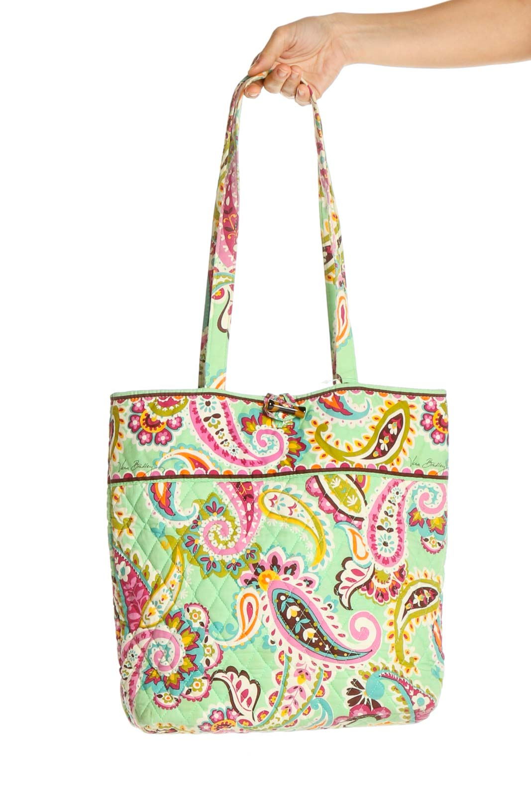 Green Tote Bag Front