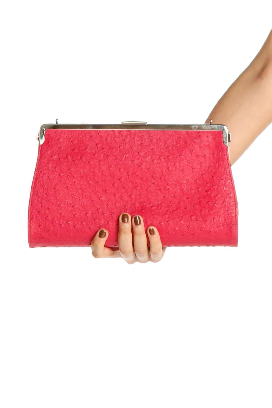 Pink Clutch Bag Front