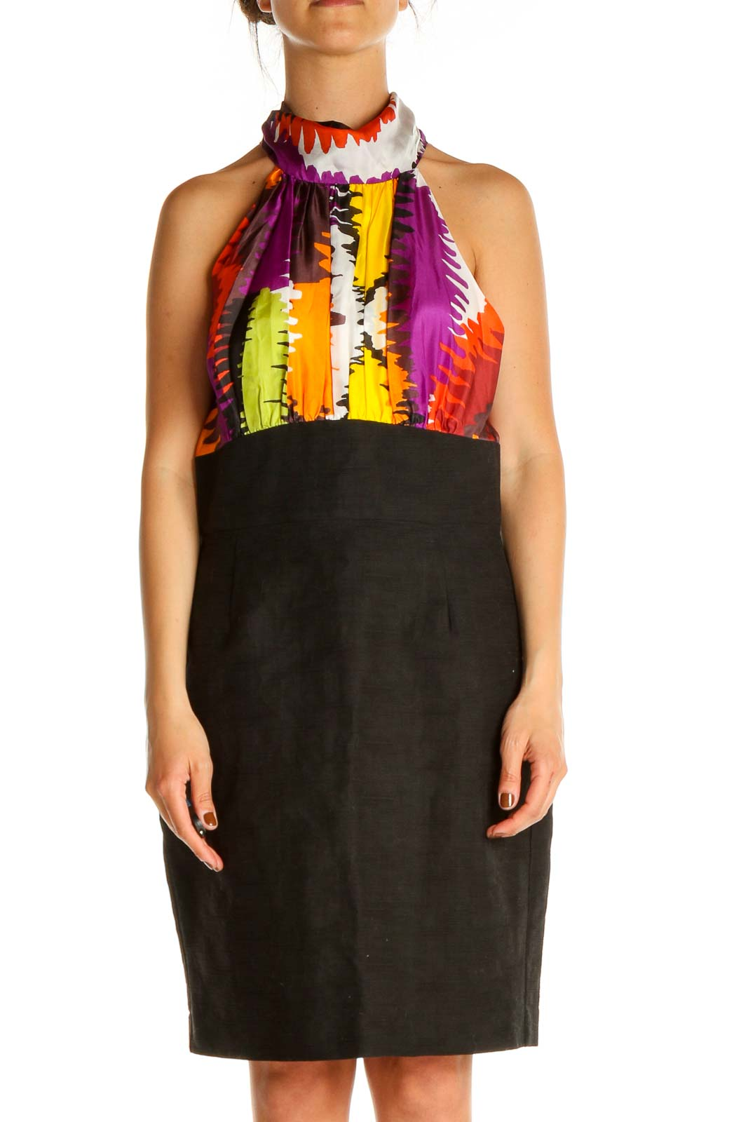 Black Shift Dress Front
