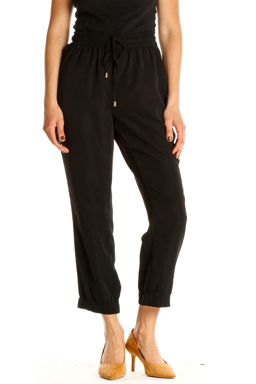 Black Classic Pants Front