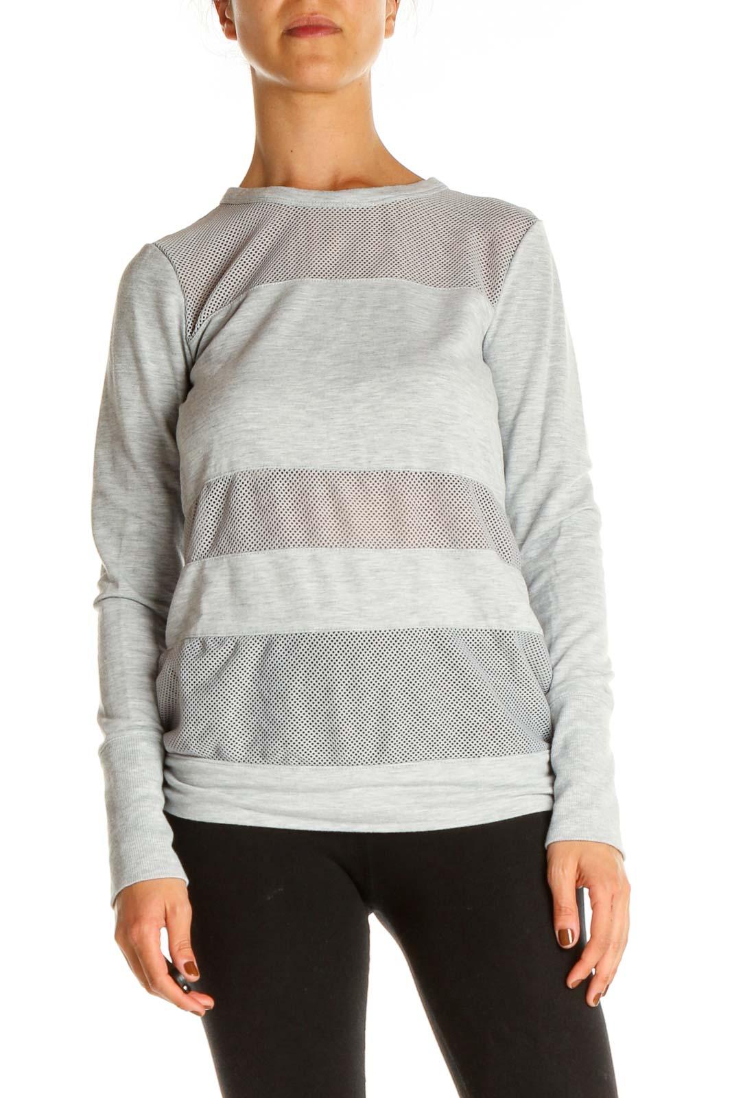 Gray Activewear Shirt Front