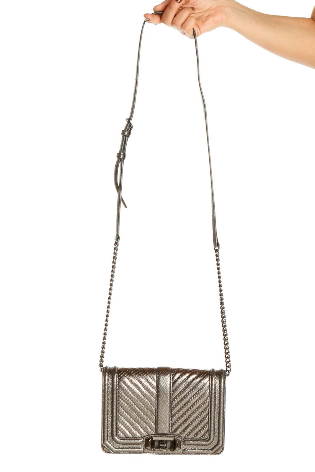 Silver Crossbody Bag Front