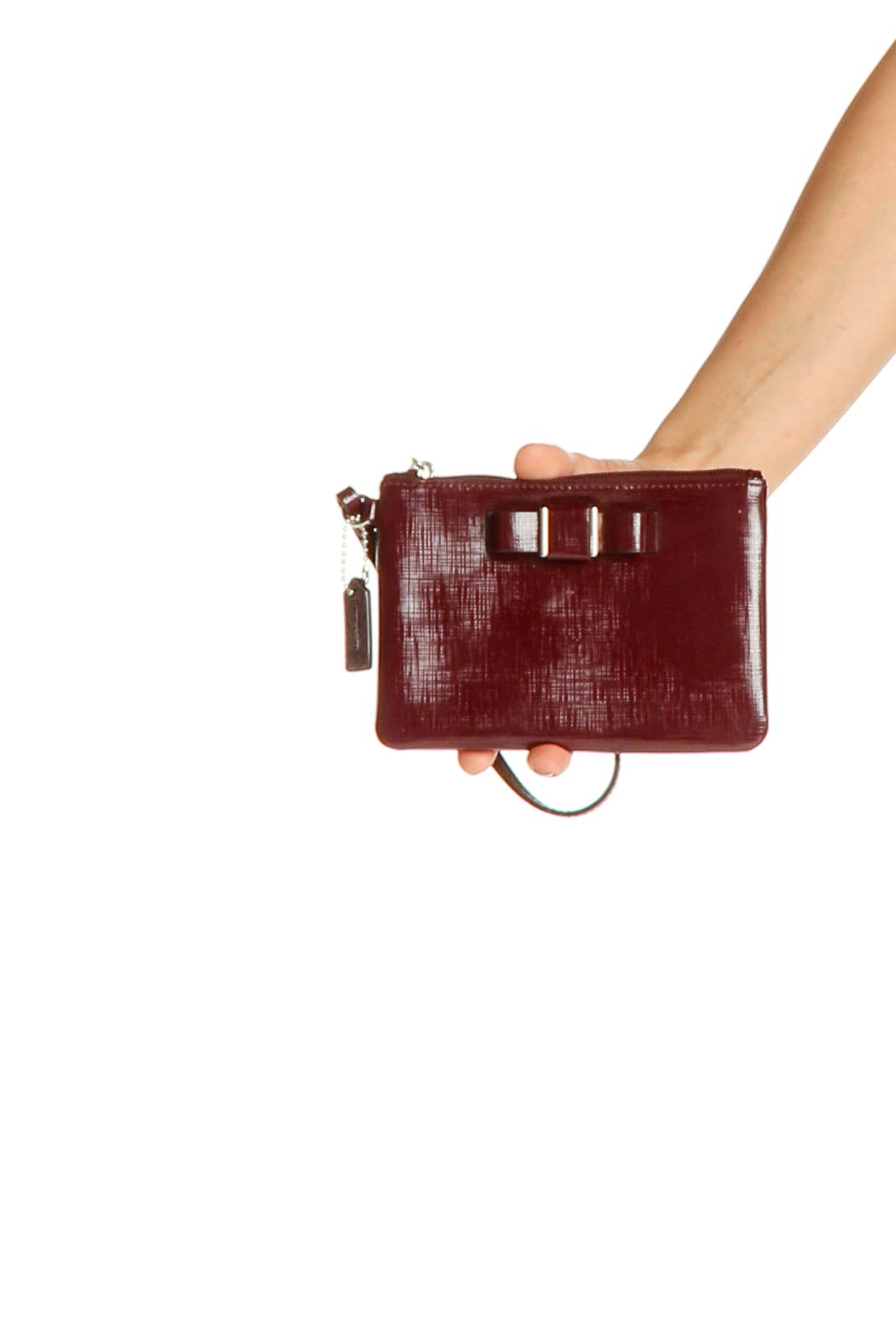 Red Clutch Bag Front