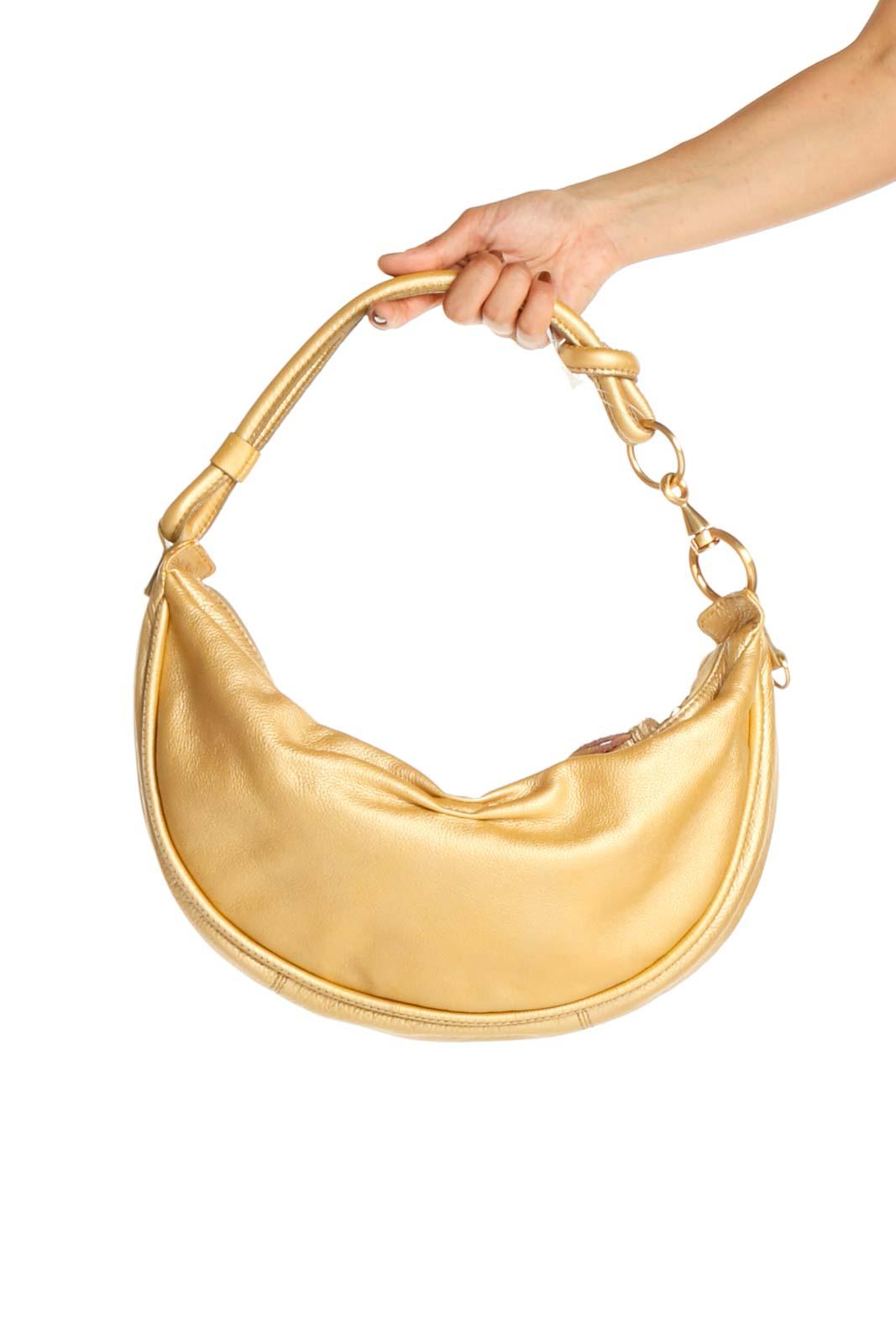 Gold Shoulder Bag Front