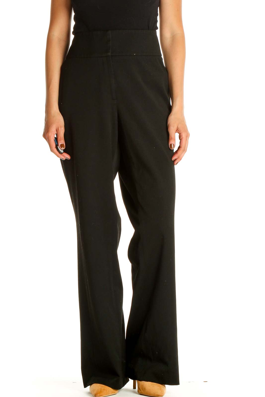 Black Classic Trousers Front