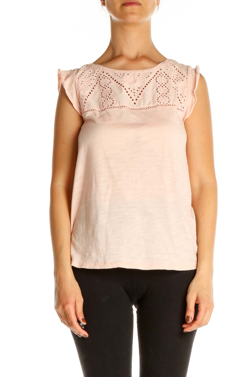 Pink Lace Blouse Front