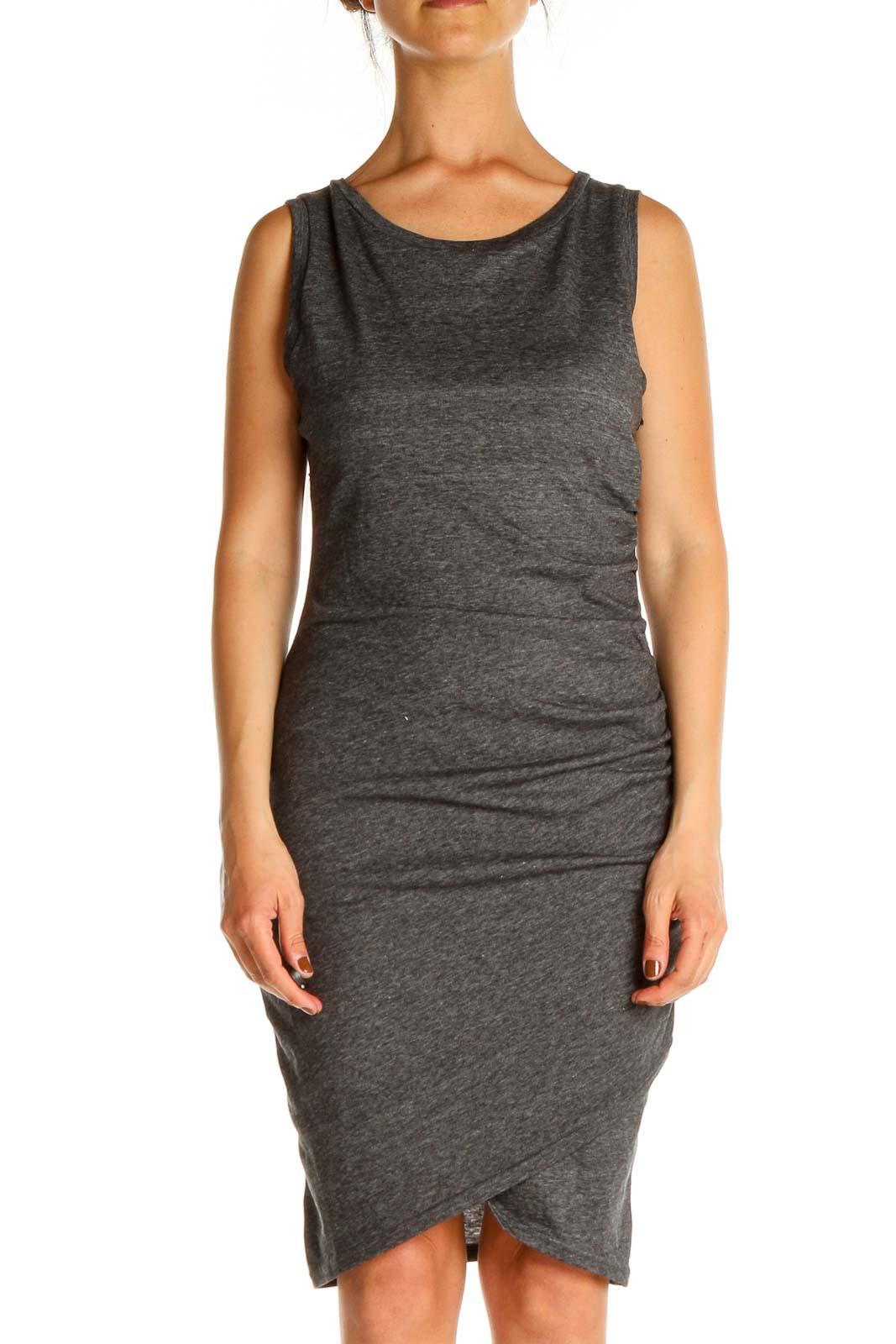 Gray Day Sheath Dress Front