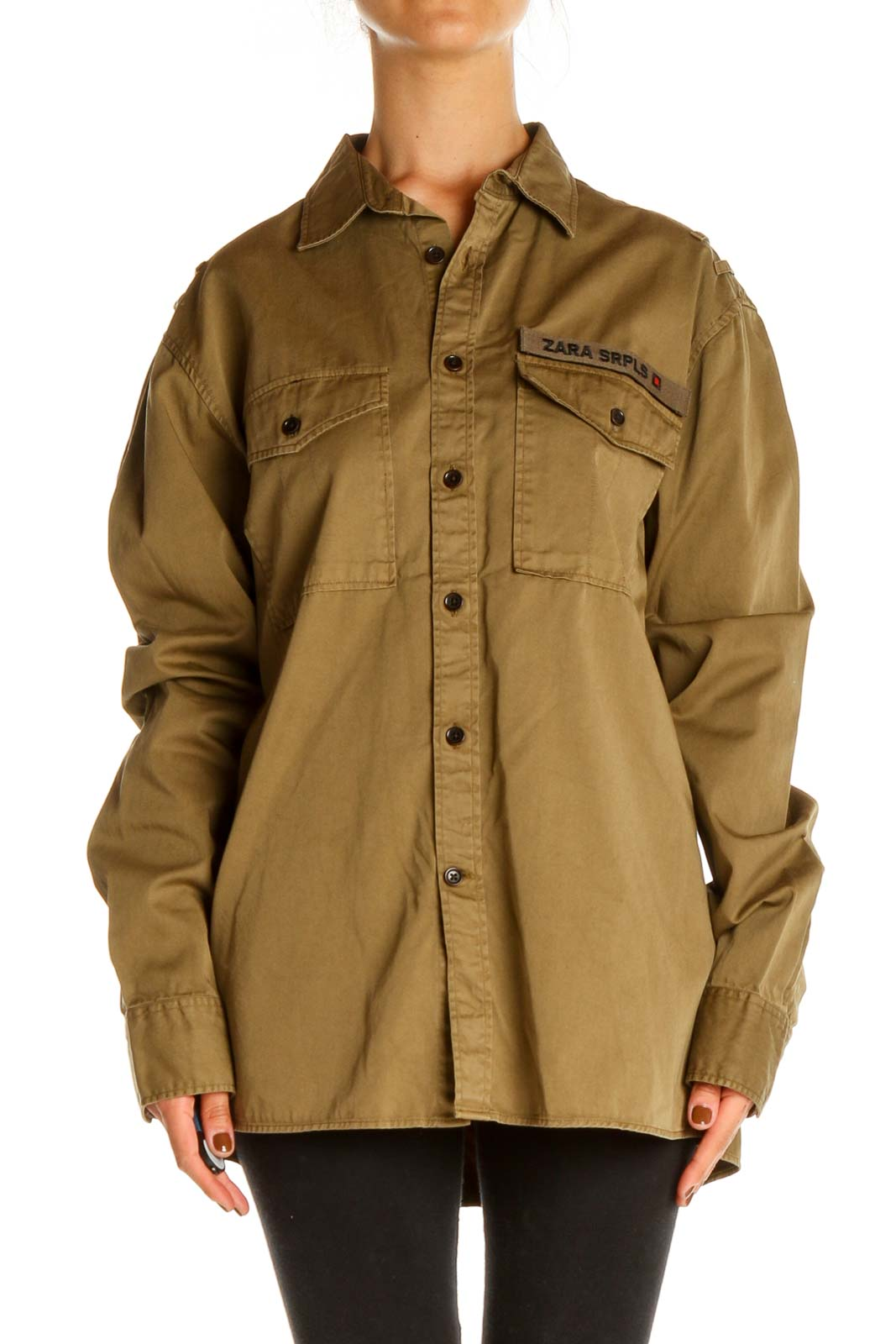 Brown Solid All Day Wear Shirt Front