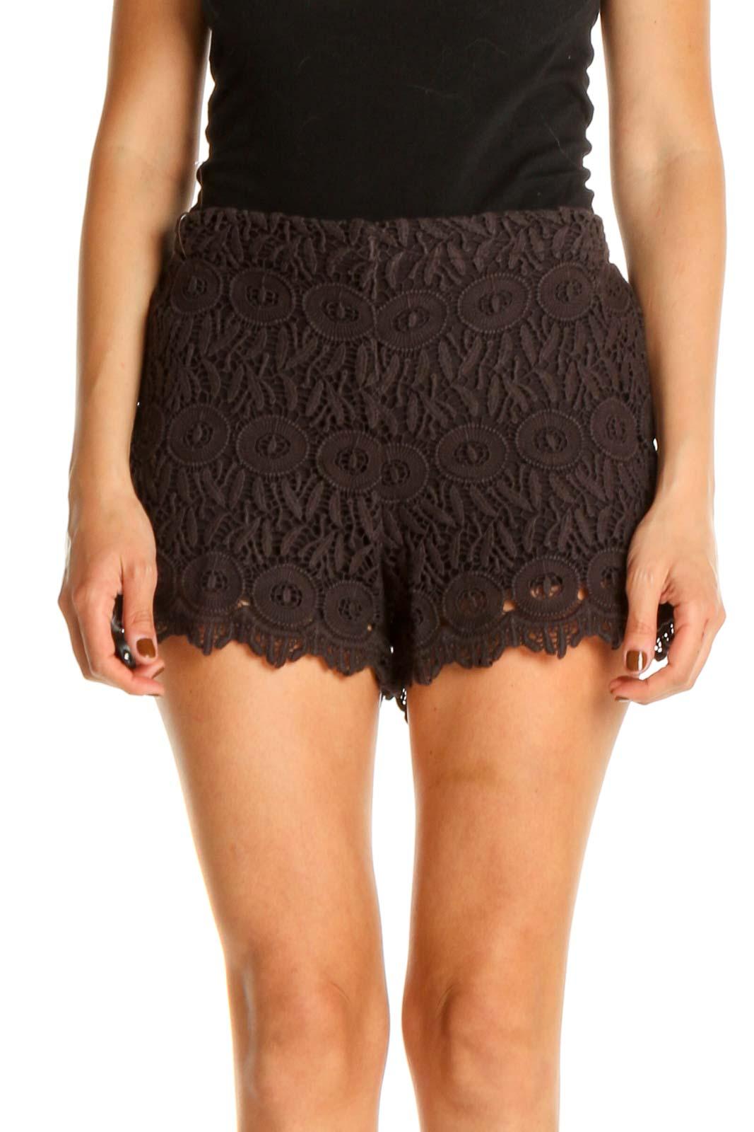 Black Bohemian Shorts Front