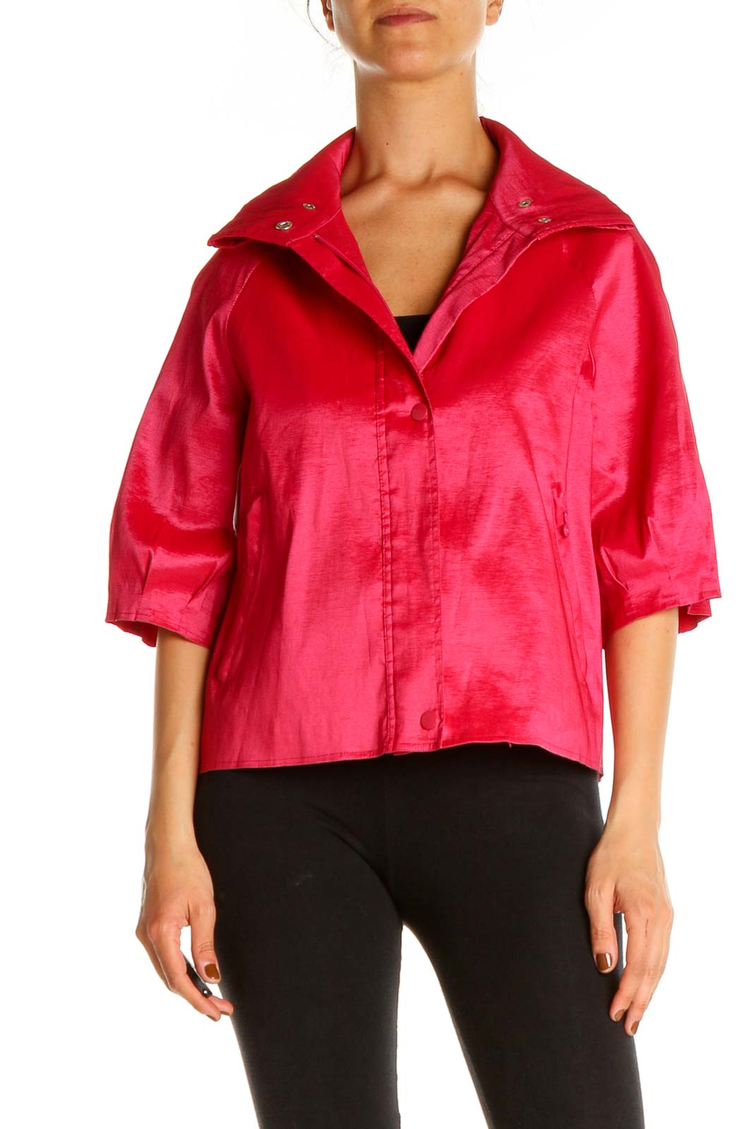 Pink Windbreaker Jacket Front