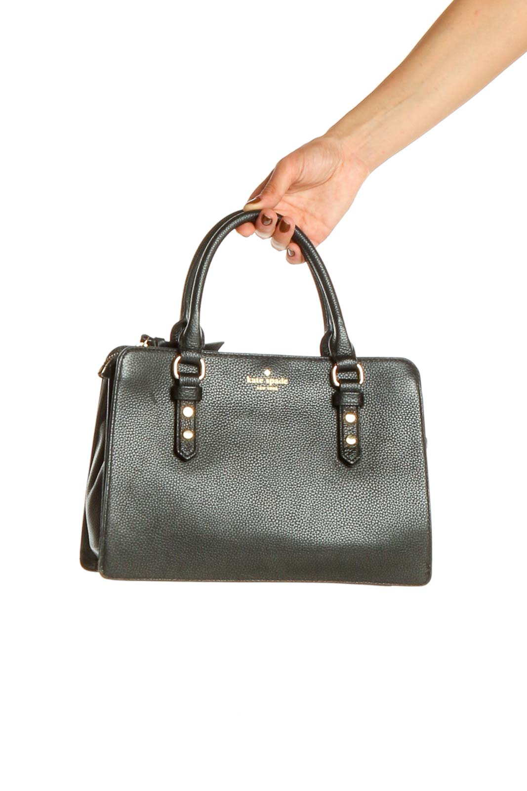 Black Satchel Bag Front