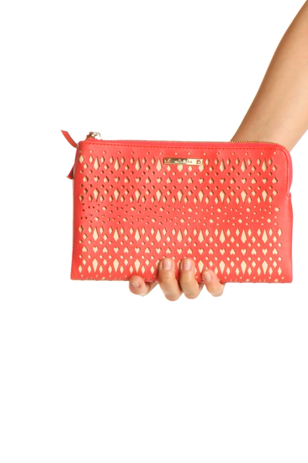 Orange Clutch Bag Front