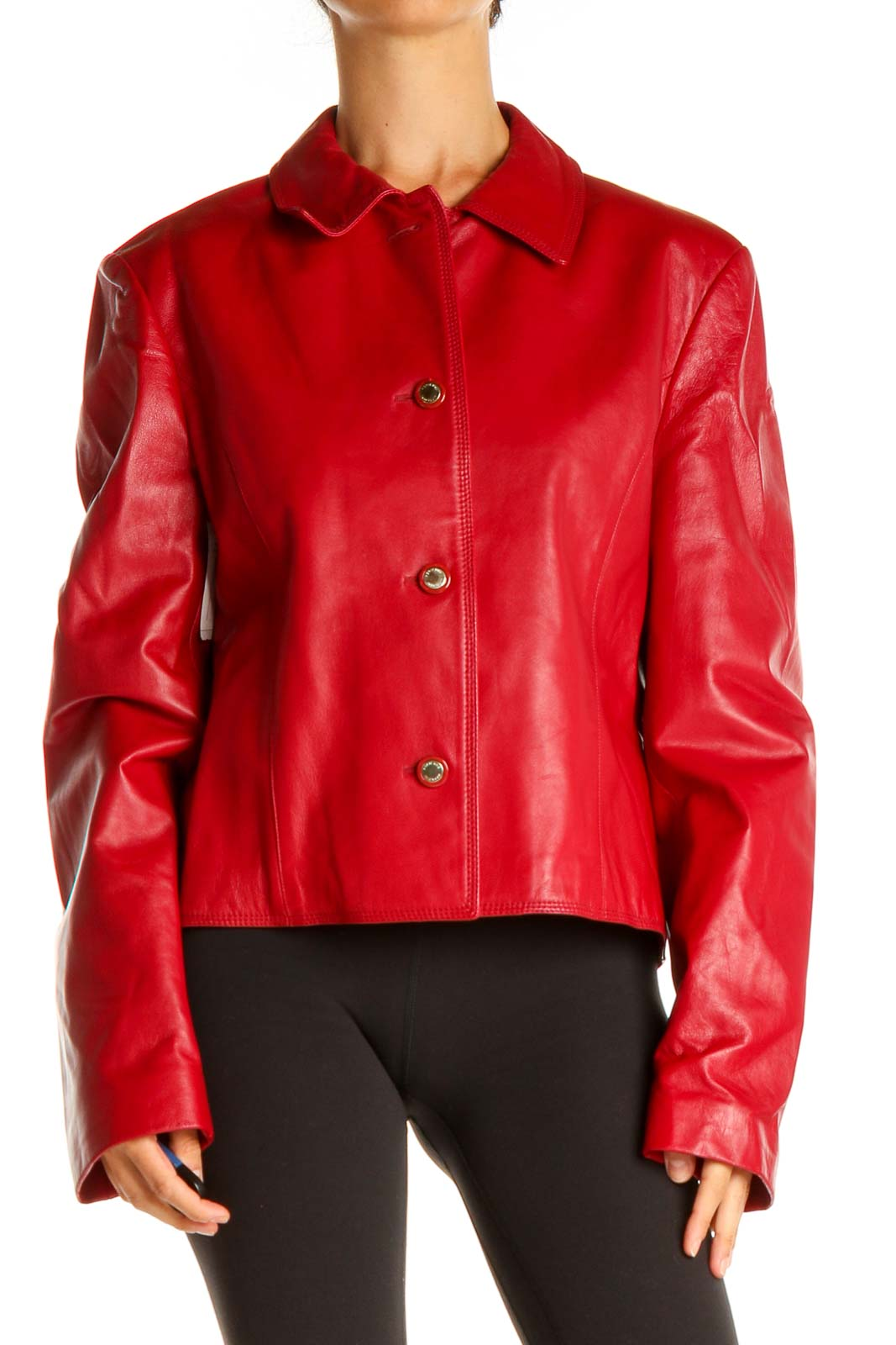 Red Motorcycle Jacket Front