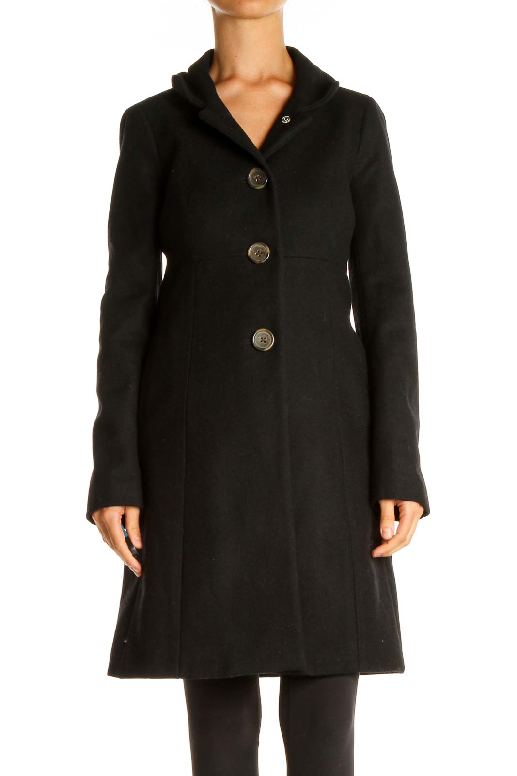 Black Overcoat Front