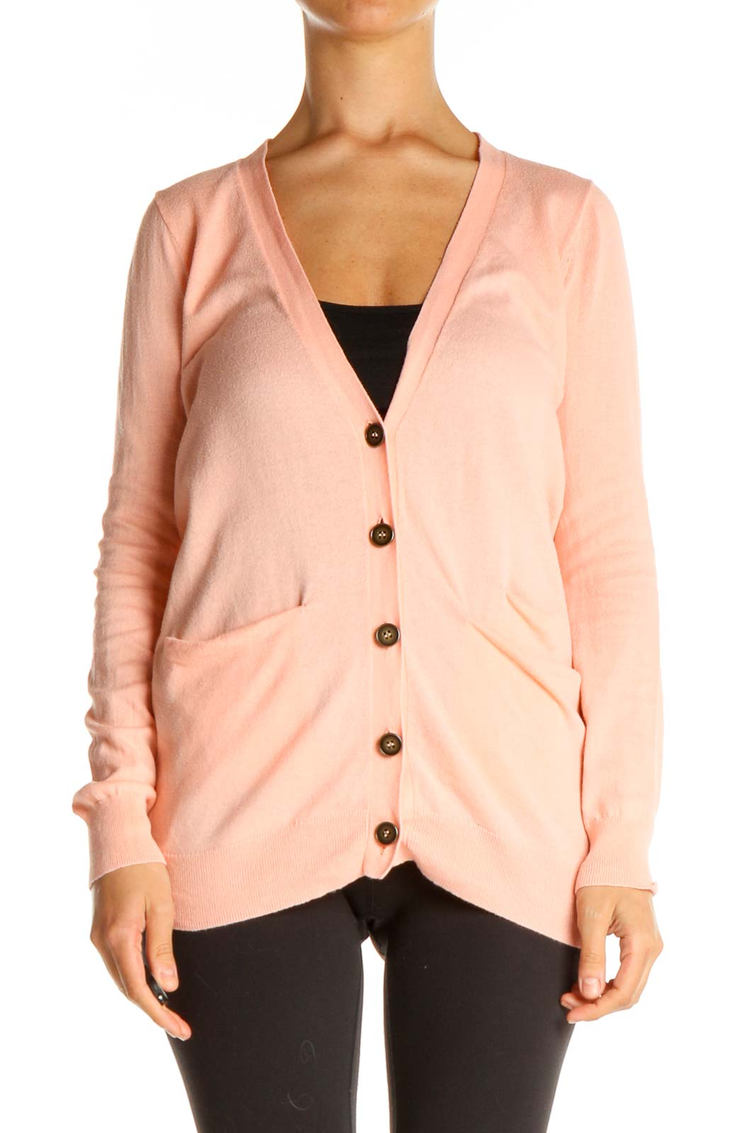 Pink Cardigan Cardigan Front