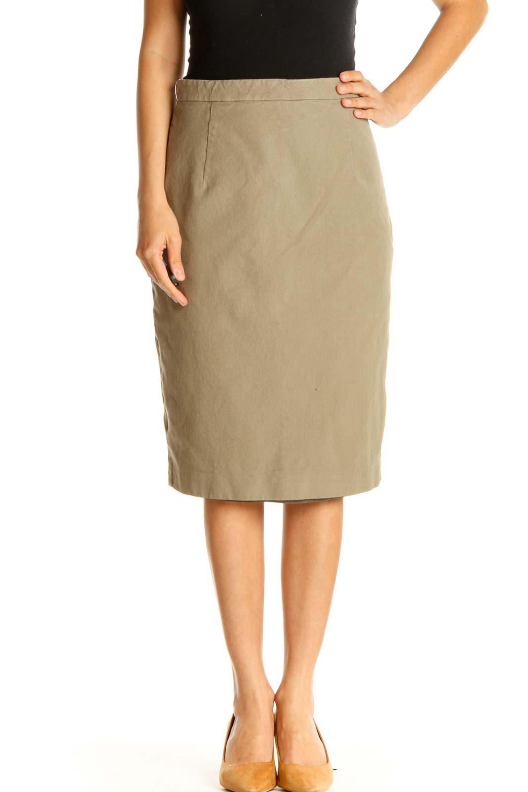 Brown Brunch Pencil Skirt Front
