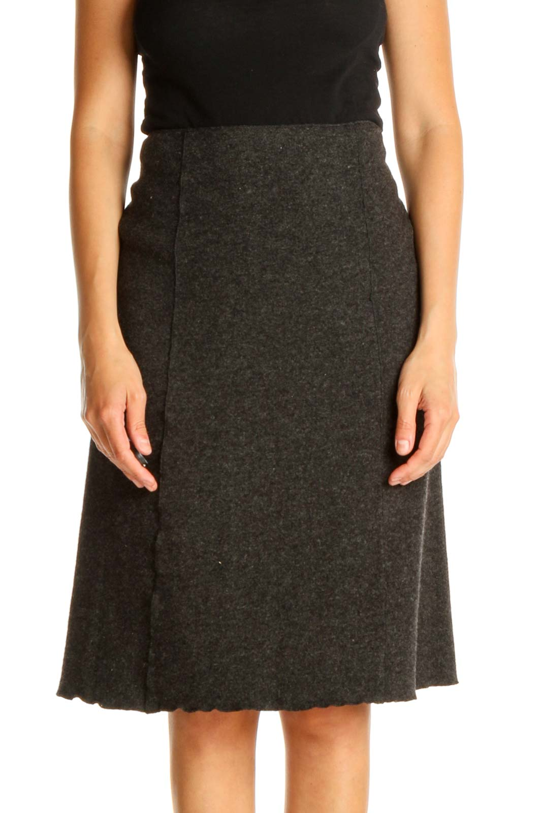 Gray Brunch A-Line Skirt Front