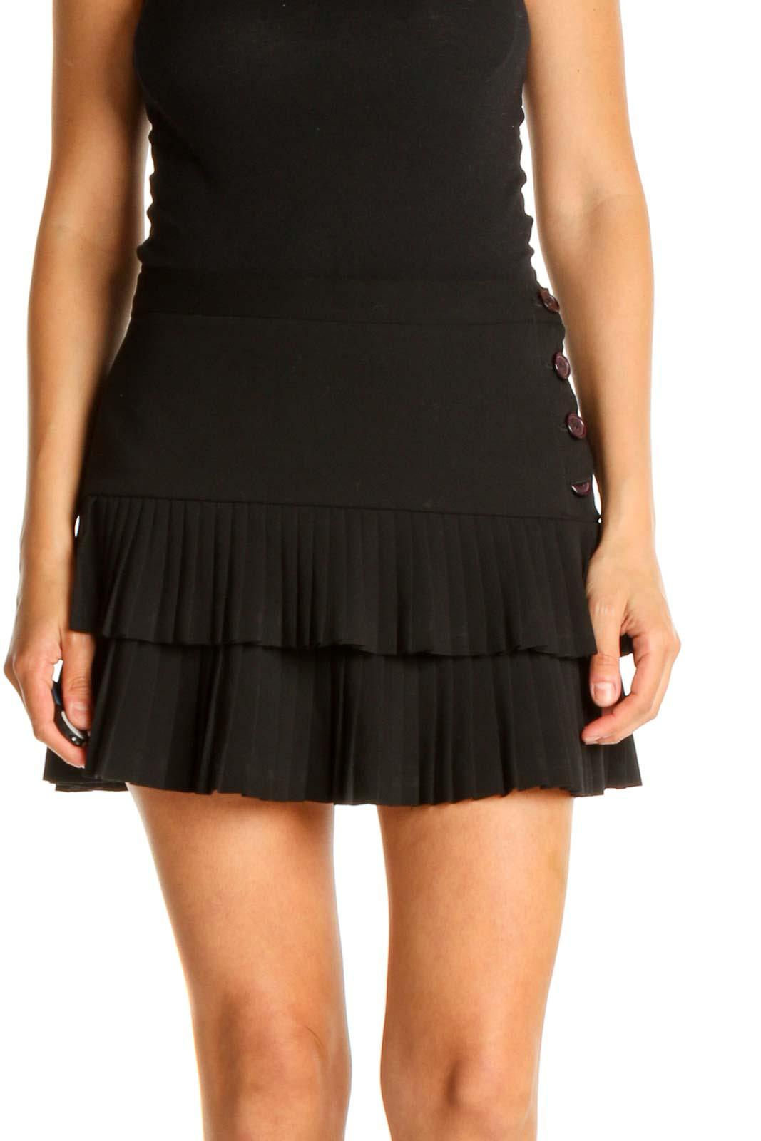 Black Chic Mini Skirt Front