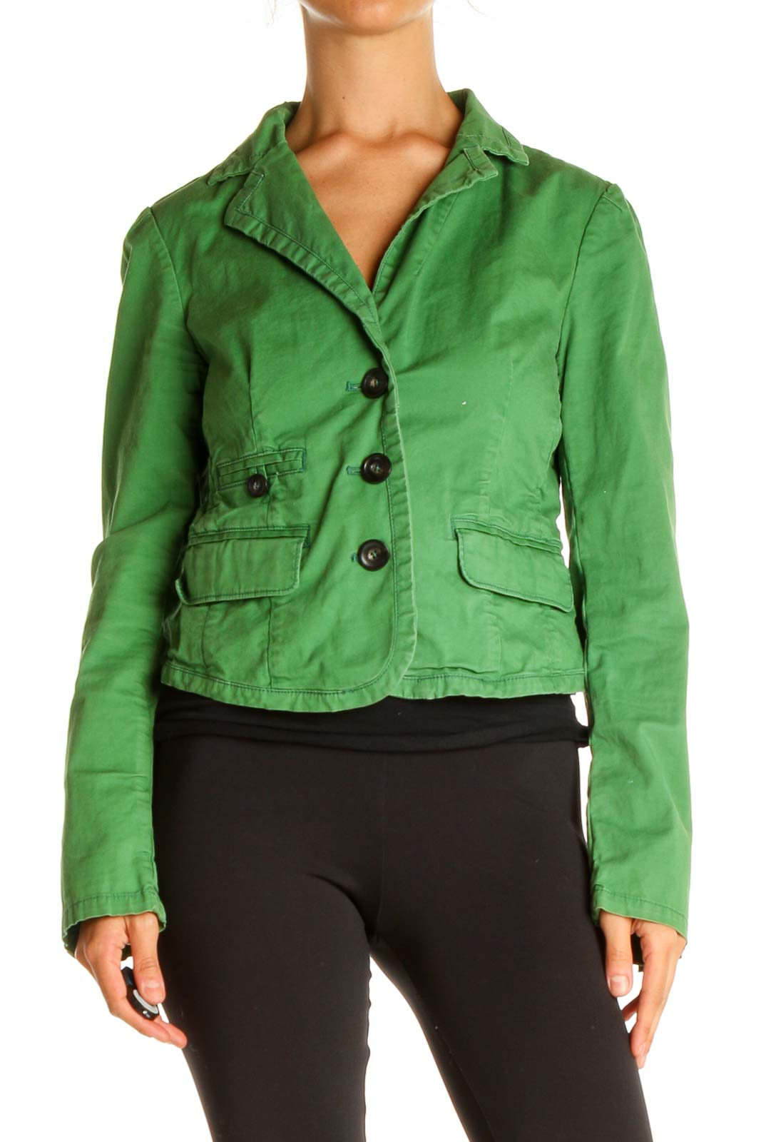 Green Jacket Front