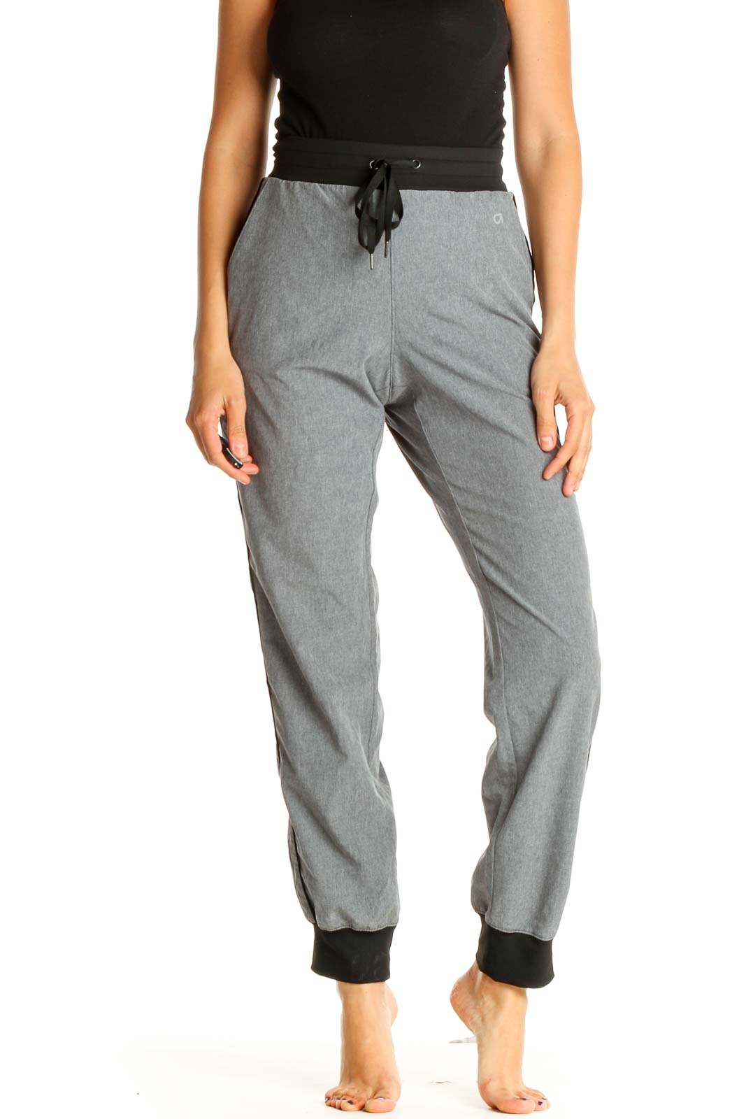 Gray Activewear Sweatpants Front