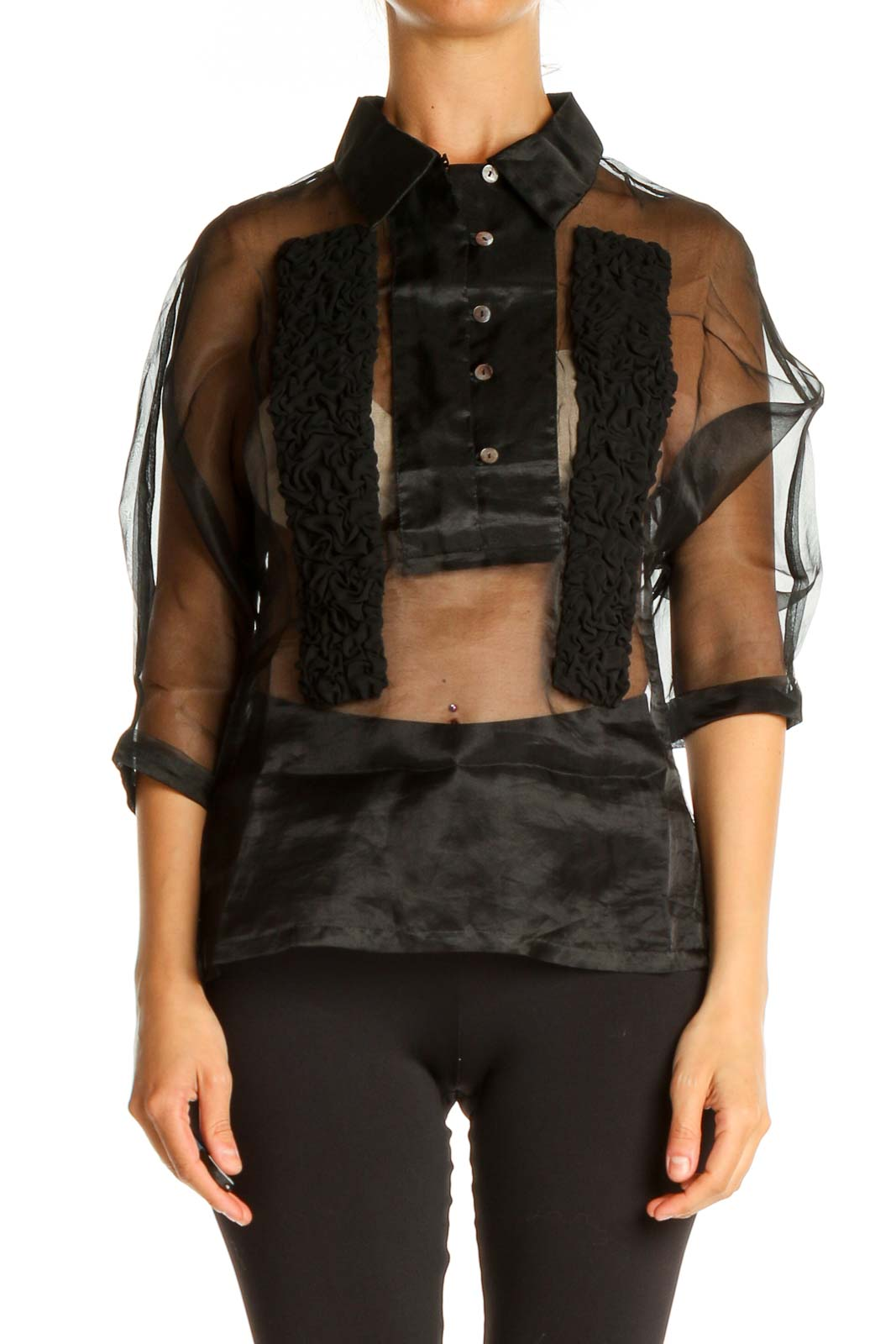 Black All Day Wear Shirt Front