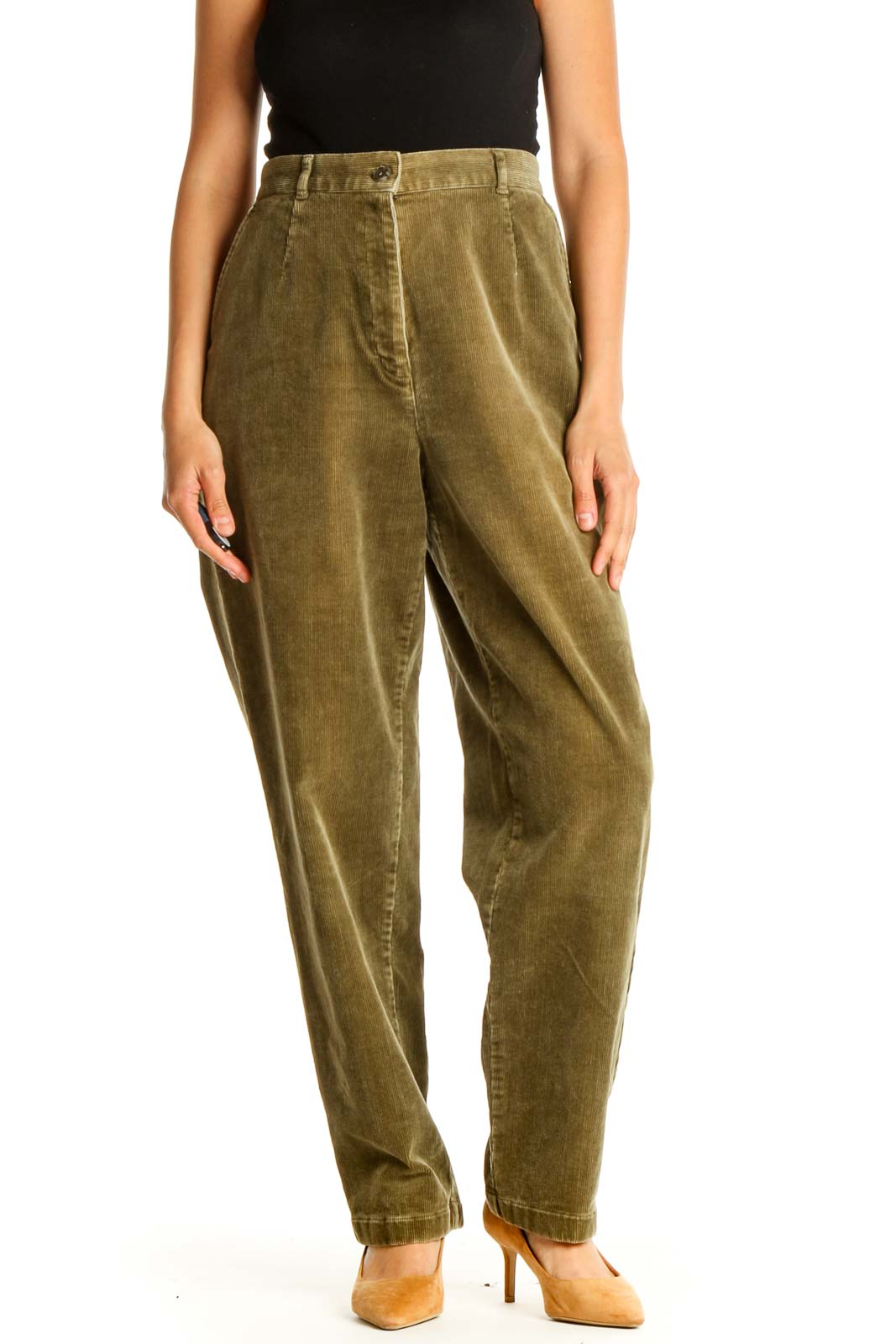 Brown Casual Trousers Front