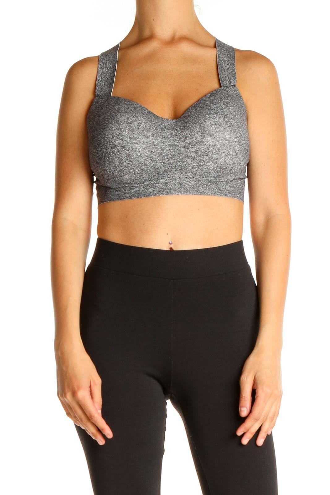 Gray Activewear Bra Front