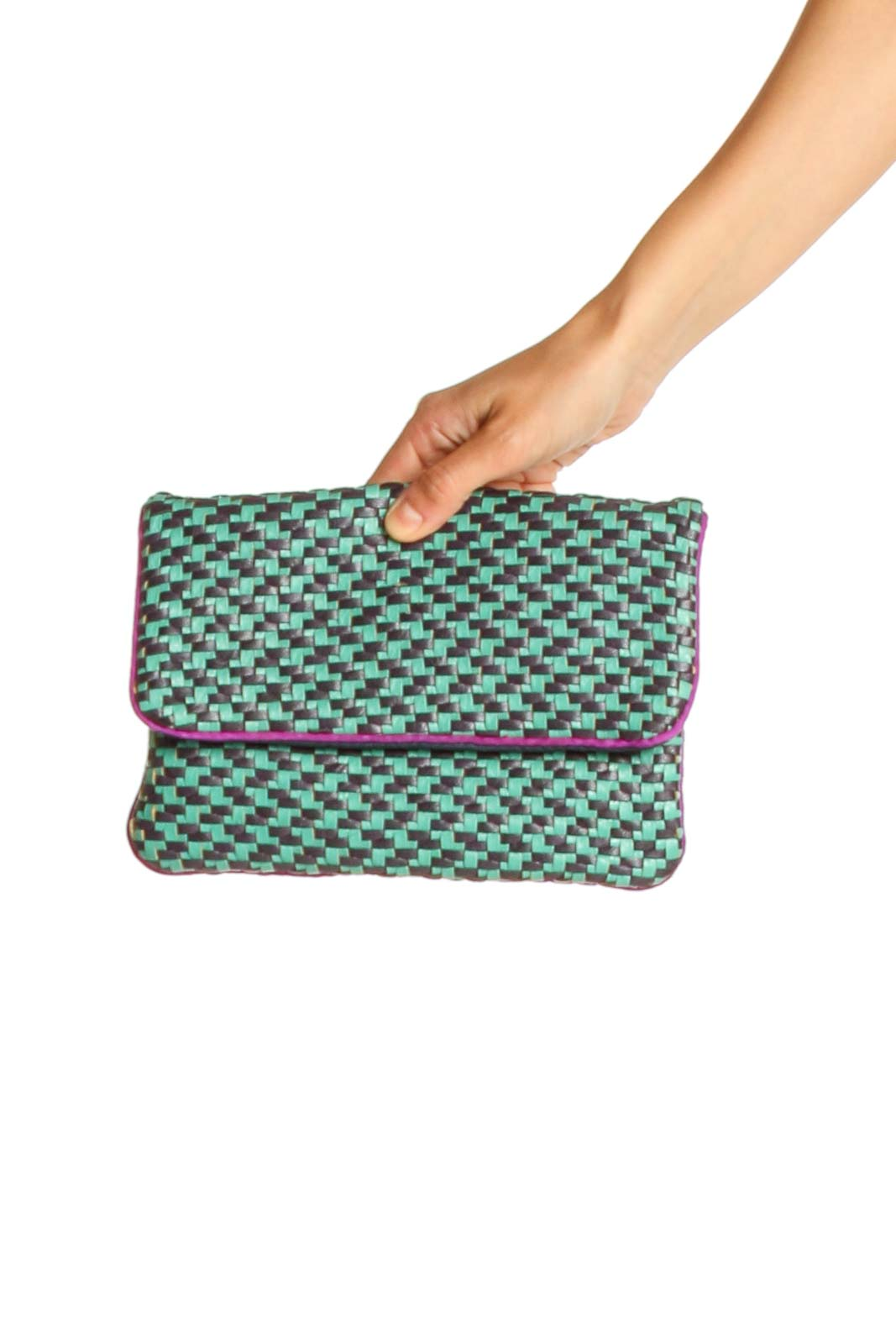 Green Clutch Bag Front