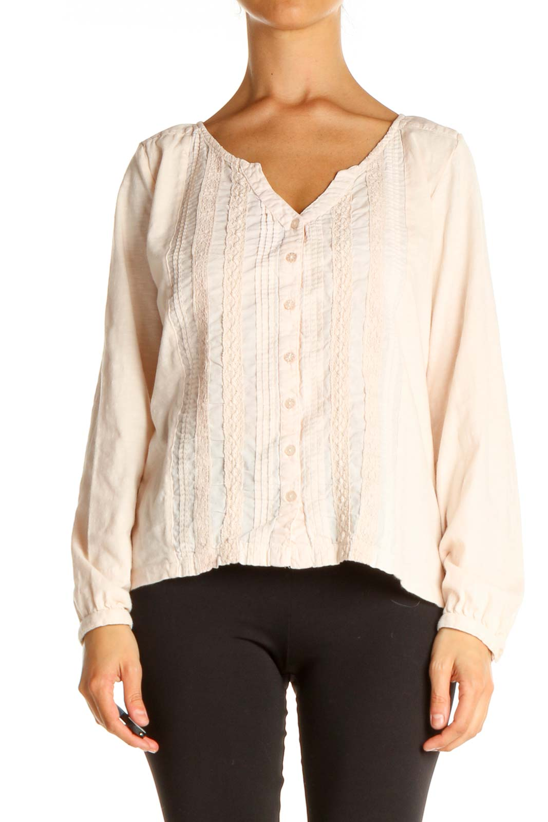 Pink All Day Wear Blouse Front