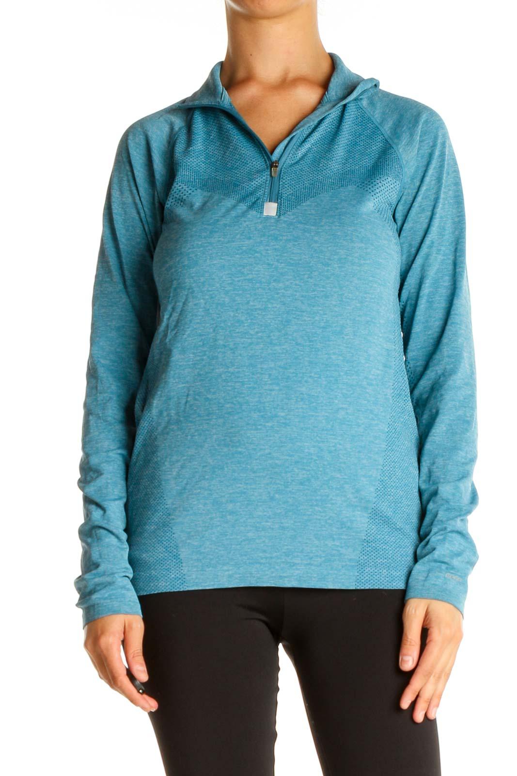 Blue Activewear Sweatshirt Front