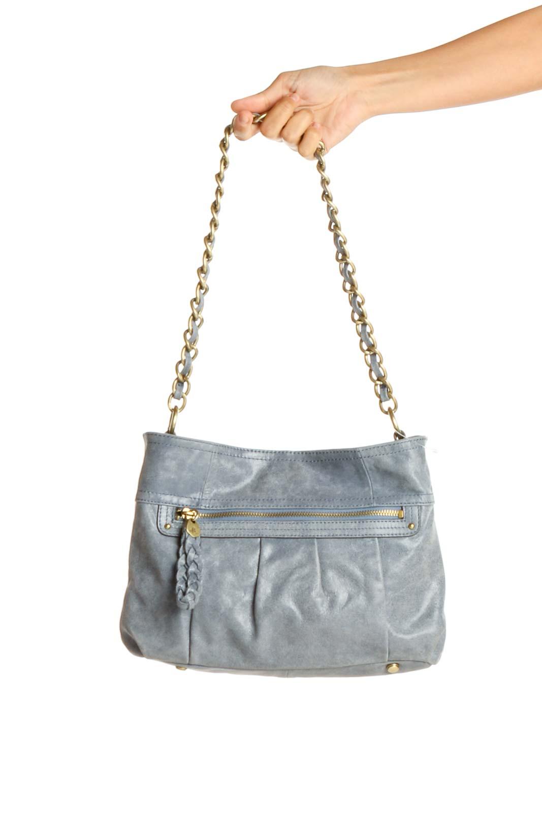 Gray Blue Shoulder Bag Front