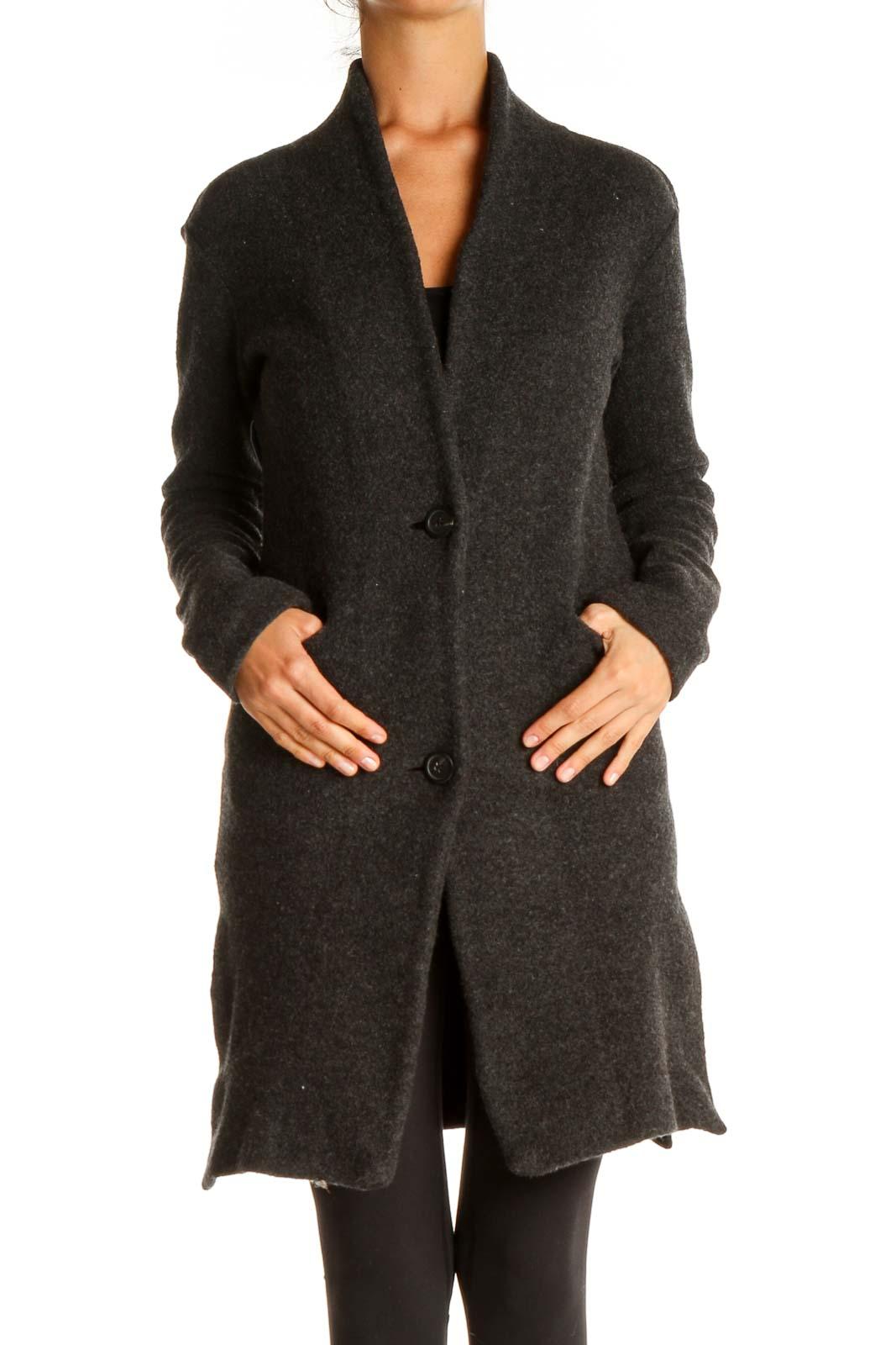 Gray Overcoat Front