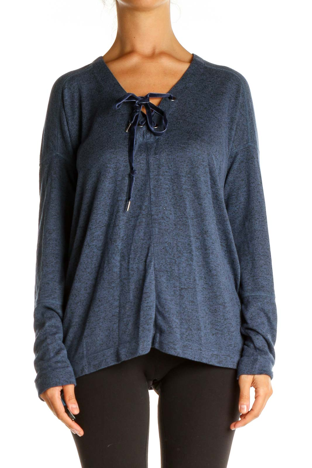 Blue Casual Top Front