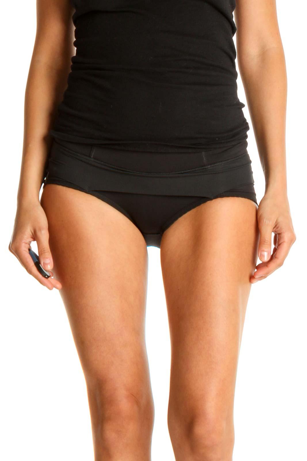 Black Activewear Bottoms Front