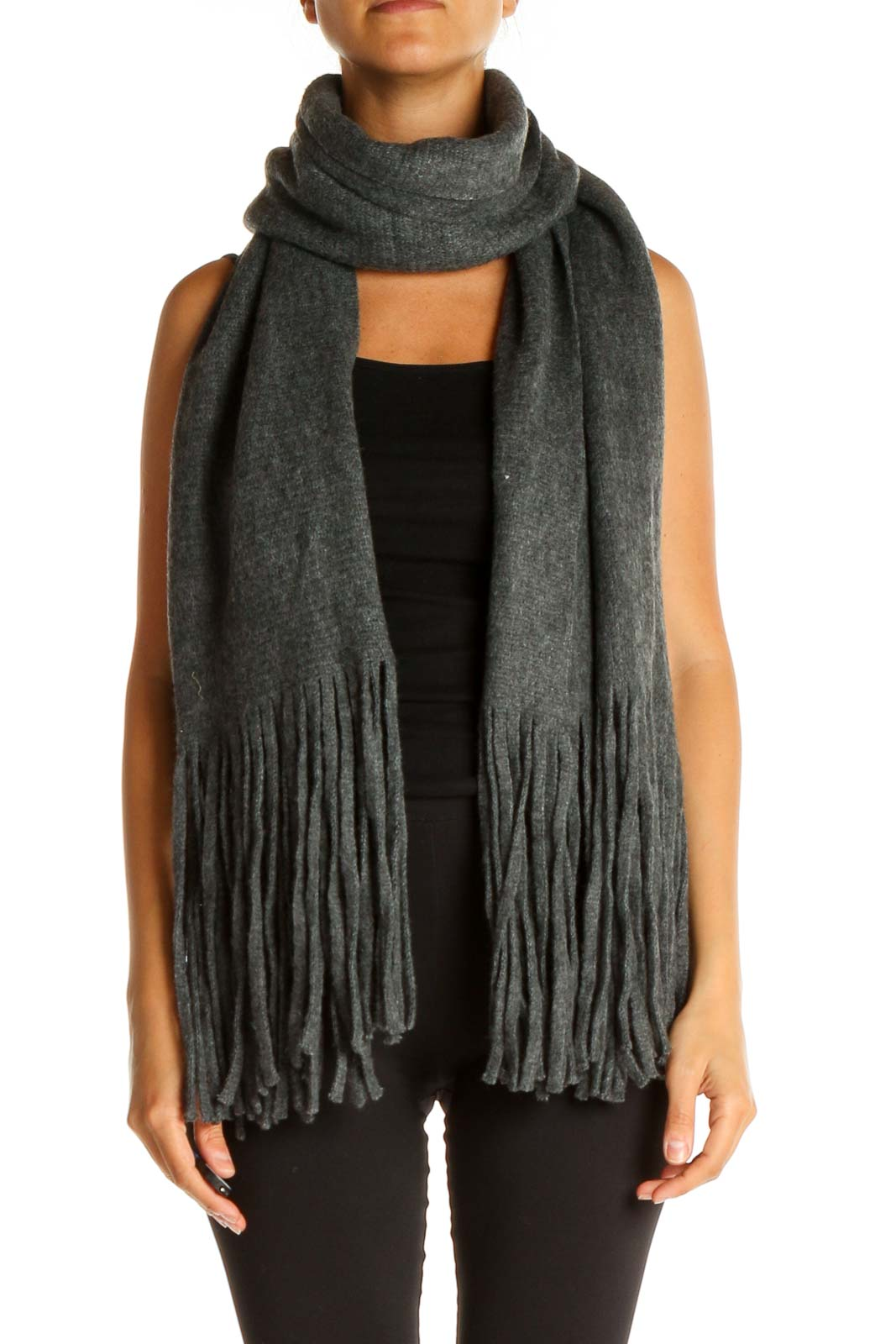 Gray Scarf Front