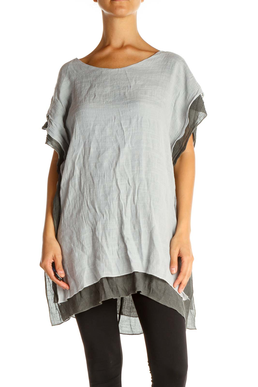 Gray All Day Wear Blouse Front