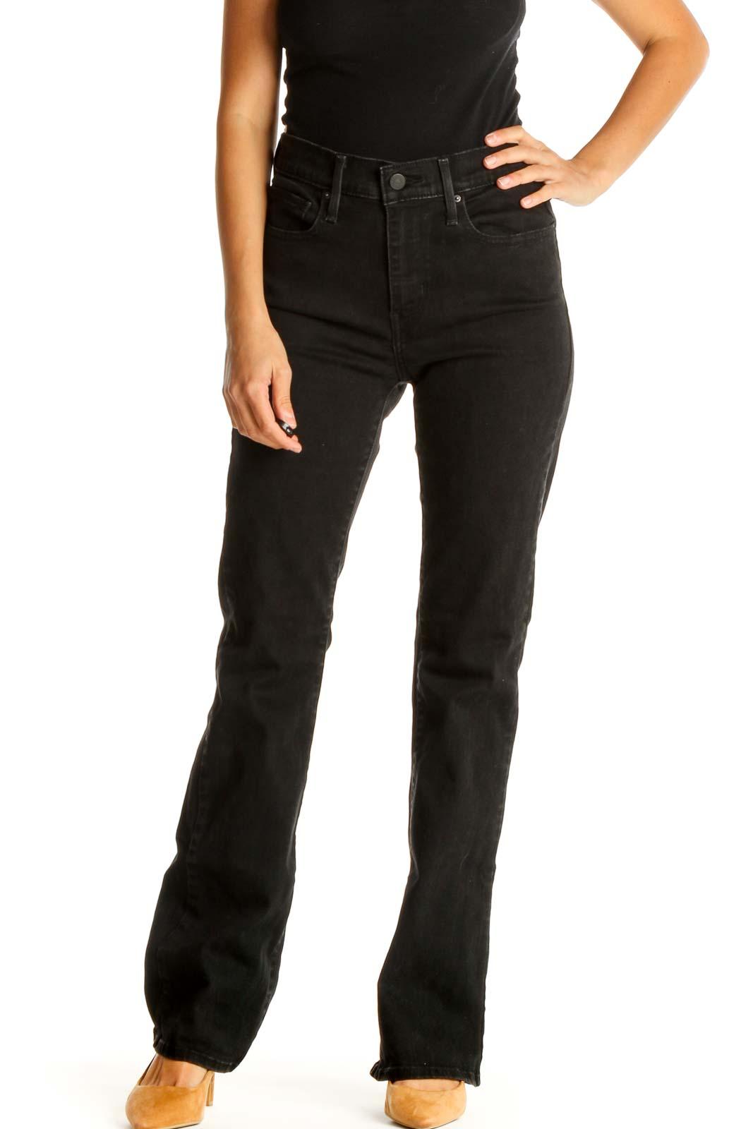 Black Bootcut Jeans Front